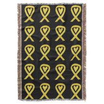 Bladder Cancer Awareness Ribbon Art Throw Blankets
