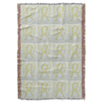 Bladder Cancer Awareness Ribbon Art Throw Blankets
