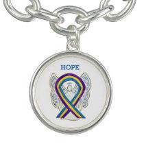 Bladder Cancer Awareness Ribbon Charm Bracelet