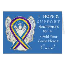 Bladder Cancer Awareness Ribbon Custom Angel Cards