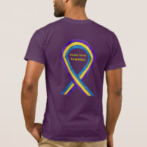 Bladder Cancer Awareness Ribbon Custom Art Shirts