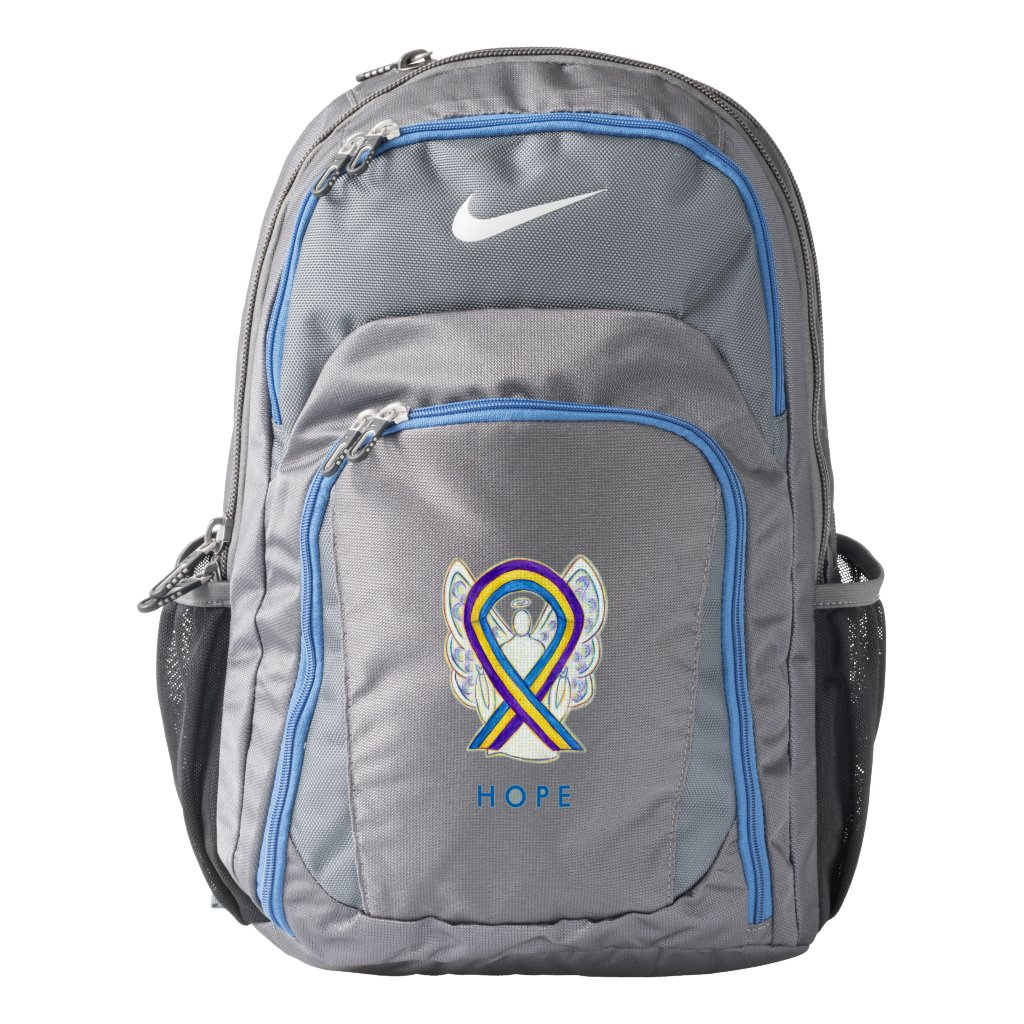 Bladder Cancer Awareness Ribbon Custom Backpack