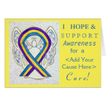 Bladder Cancer Awareness Ribbon Custom Cause Cards