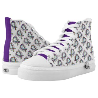 Bladder Cancer Awareness Ribbon Custom High Tops