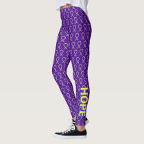 Bladder Cancer Awareness Ribbon Custom Leggings