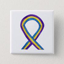 Bladder Cancer Awareness Ribbon Custom Pin Buttons