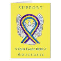 Bladder Cancer Awareness Ribbon Customized Card