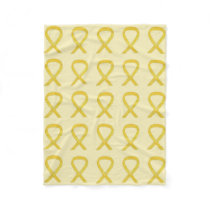 Bladder Cancer Awareness Ribbon Fleece Blankets