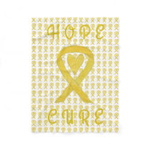 Bladder Cancer Awareness Ribbon Fleece Blankets
