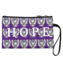 Bladder Cancer Awareness Ribbon Hope Clutch Purse