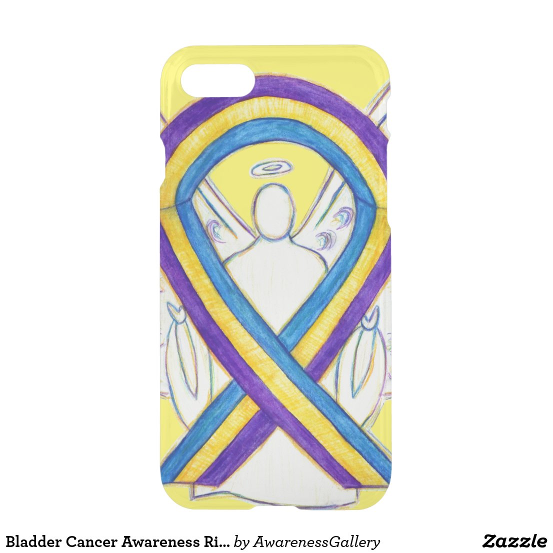 Bladder Cancer Awareness Ribbon iPhone Case
