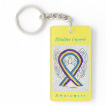 Bladder Cancer Awareness Ribbon Keychain