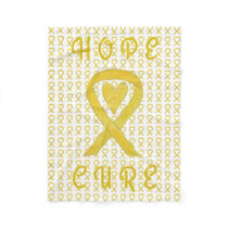 Bladder Cancer Awareness Ribbon Soft Chemo Blanket