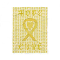 Bladder Cancer Awareness Ribbon Soft Chemo Blanket
