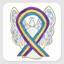 Bladder Cancer Awareness Ribbon Sticker Decals