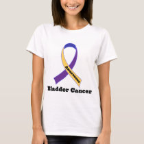 Bladder Cancer Awareness Ribbon T-Shirt