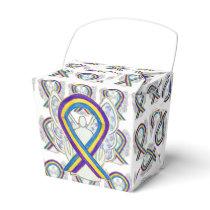 Bladder Cancer Awareness Ribbon Take Out Favor Box