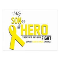 Bladder  Cancer Awareness:  son Postcard
