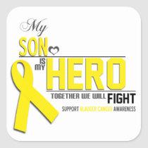 Bladder  Cancer Awareness:  son Square Sticker