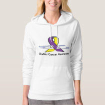 Bladder Cancer Awareness with Swans Hoodie