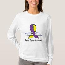 Bladder Cancer Awareness with Swans T-Shirt