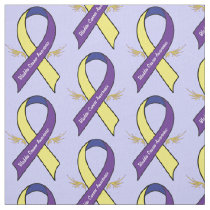 Bladder Cancer Awareness with Wings Fabric