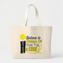Bladder Cancer BELIEVE DREAM HOPE Large Tote Bag