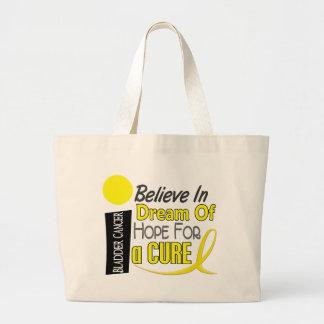 Bladder Cancer BELIEVE DREAM HOPE Large Tote Bag