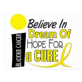 Bladder Cancer BELIEVE DREAM HOPE Postcard