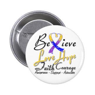 Bladder Cancer Believe Heart Collage Button