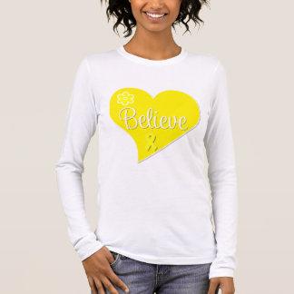 Bladder Cancer Believe Heart Long Sleeve T-Shirt