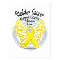 Bladder Cancer Butterfly 3 Postcard