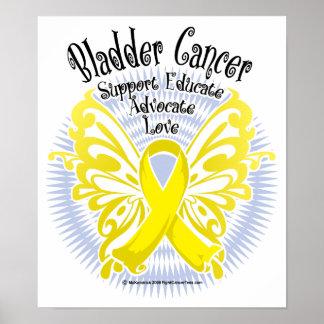 Bladder Cancer Butterfly 3 Poster