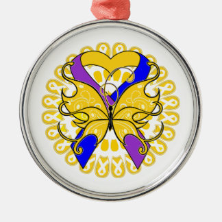 Bladder Cancer Butterfly Heart Ribbon Christmas Tree Ornaments