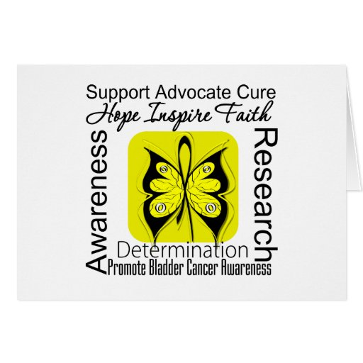 Bladder Cancer Butterfly Inspirations Greeting Card