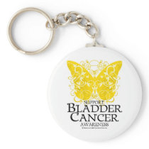 Bladder Cancer Butterfly Keychain