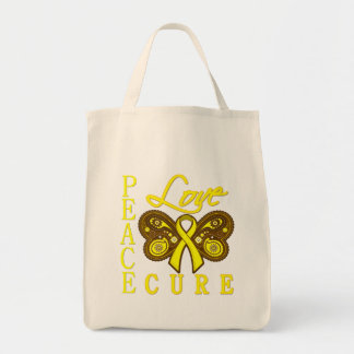 Bladder Cancer Butterfly Peace Love Cure Bag