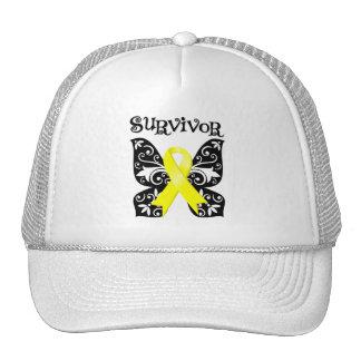 Bladder Cancer Butterfly Survivor Trucker Hat