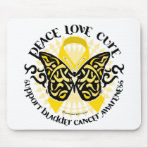 Bladder Cancer Butterfly Tribal Mouse Pad