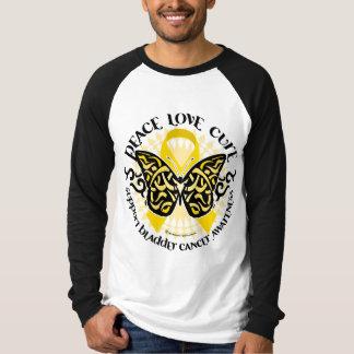 Bladder Cancer Butterfly Tribal T-Shirt
