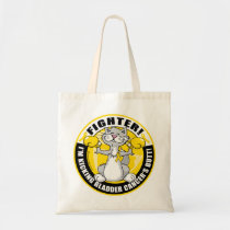 Bladder Cancer Cat Fighter Tote Bag