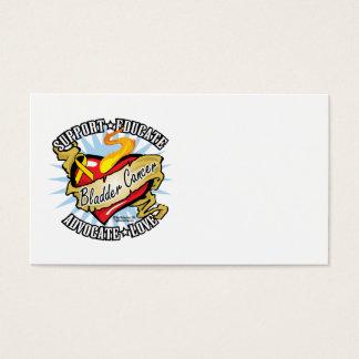 Bladder Cancer Classic Heart Business Card