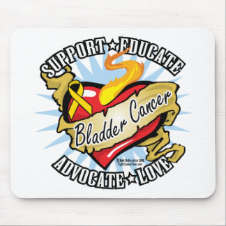 Bladder Cancer Classic Heart Mouse Pad