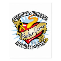 Bladder Cancer Classic Heart Postcard