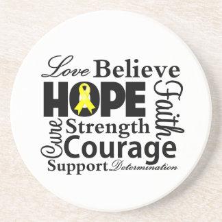 Bladder Cancer Collage of Hope Drink Coaster