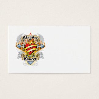 Bladder Cancer Cross & Heart Business Card