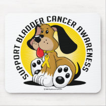 Bladder Cancer Dog Mouse Pad