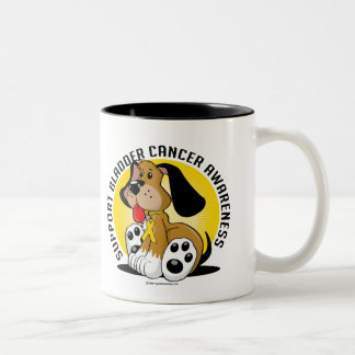 Bladder Cancer Dog Two-Tone Coffee Mug