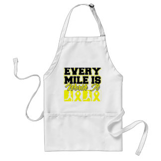 Bladder Cancer Every Mile is Worth It Adult Apron