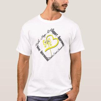 Bladder Cancer Faith Hope Love Butterfly T-Shirt